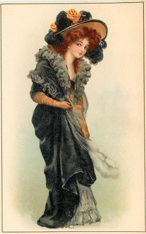 vintage postcards Victorian ladies photos