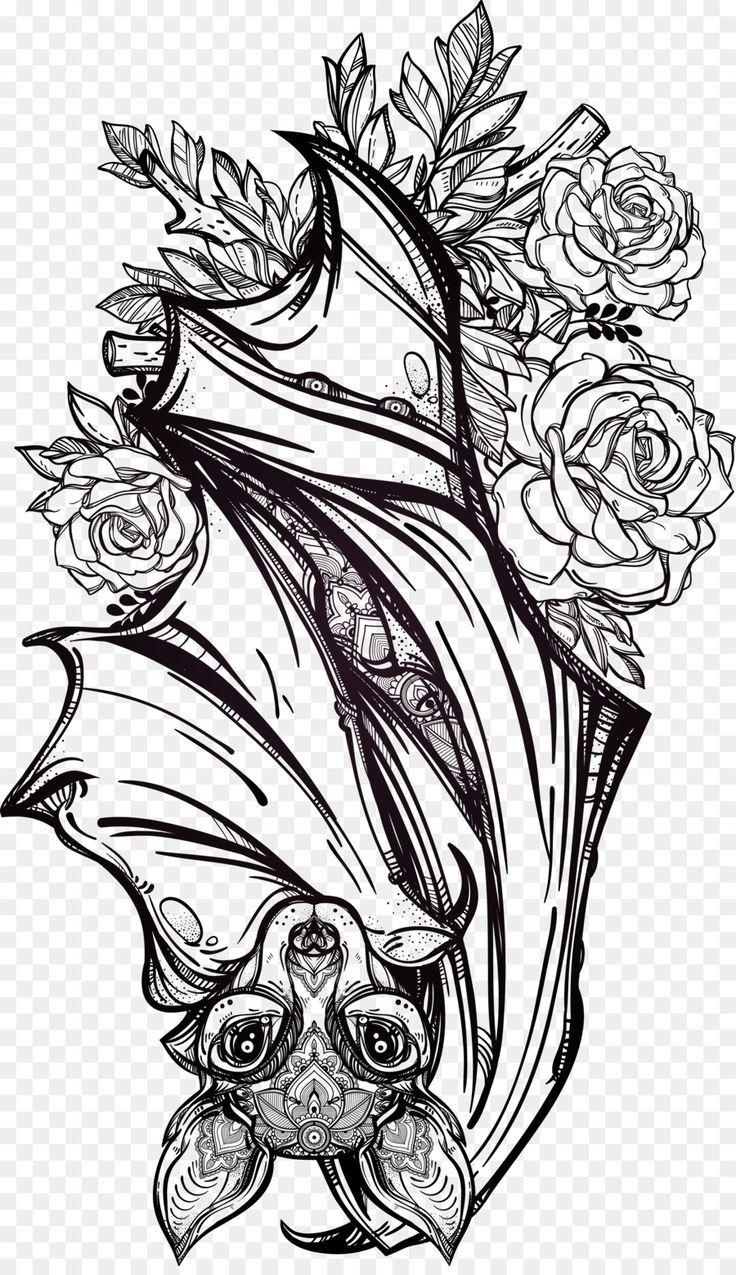 Bat Tattoo Artist Flash Gothic Fashion Hand Painted Bat In 2020 Tattoo Design Drawings Bats Tattoo Design Bat Tattoo