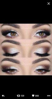 Maquillaje Boda Ojos marrones Novias Sombra de ojos 30 Ideas # ojos # marrón #brazo …