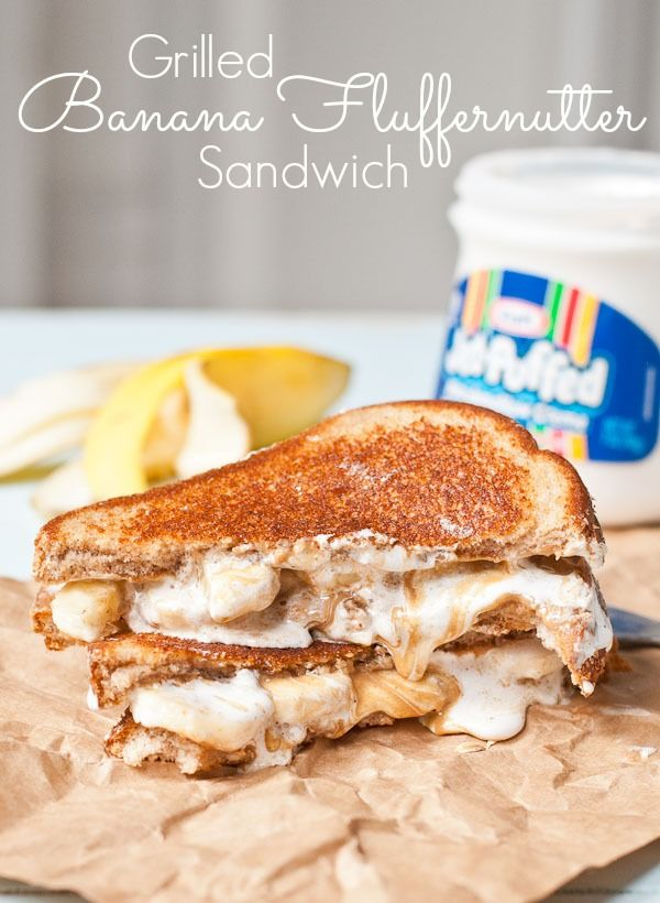 Grilled Banana Fluffernutter Sandwiches are classic comfort food ...