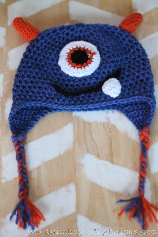 Crochet Monster Hat Pattern | fund raising | Pinterest