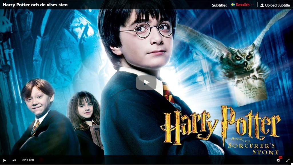 Hd Harry Potter Och De Vises Sten 2001 Svenskt Tal Stream Buku Gambar