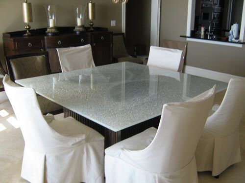 Cracked Glass Table Dining Table Makeover Glass Table Table