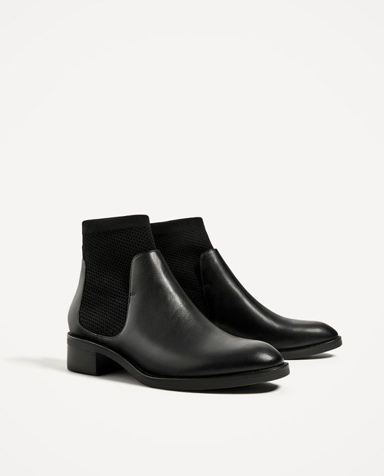 Image 3 of FLAT SOCK ANKLE BOOTS from