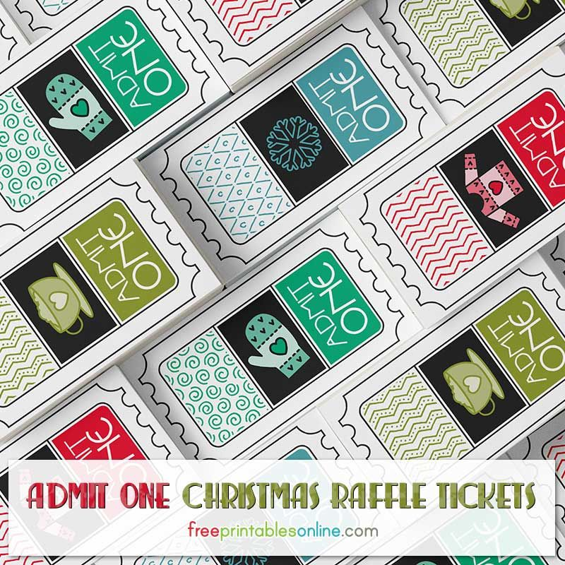 Free Christmas Raffle Tickets to Print Free Printables Online – Print Tickets Free Template