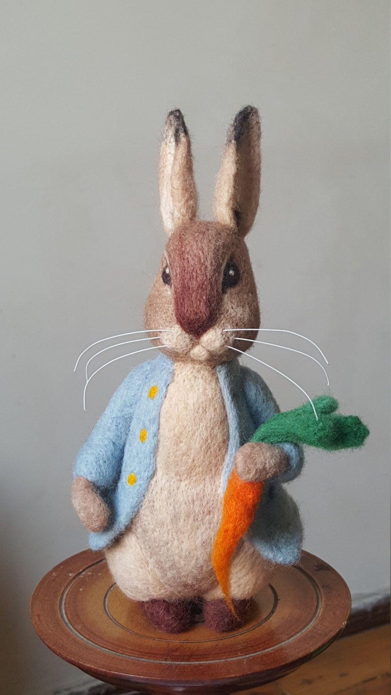 Peter Rabbit needle felted rabbit Beatrix Potter