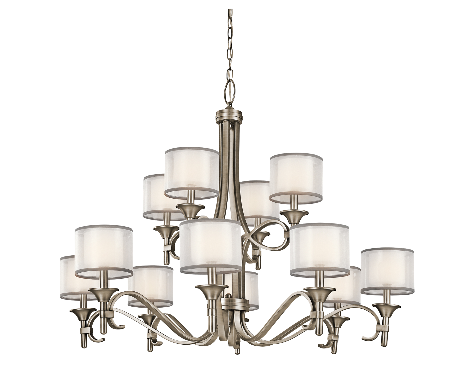 Kitchler lacey collection 2 story foyer chandelier in antique kichler lighting lacey 12 light chandelier in antique pewter mozeypictures Image collections