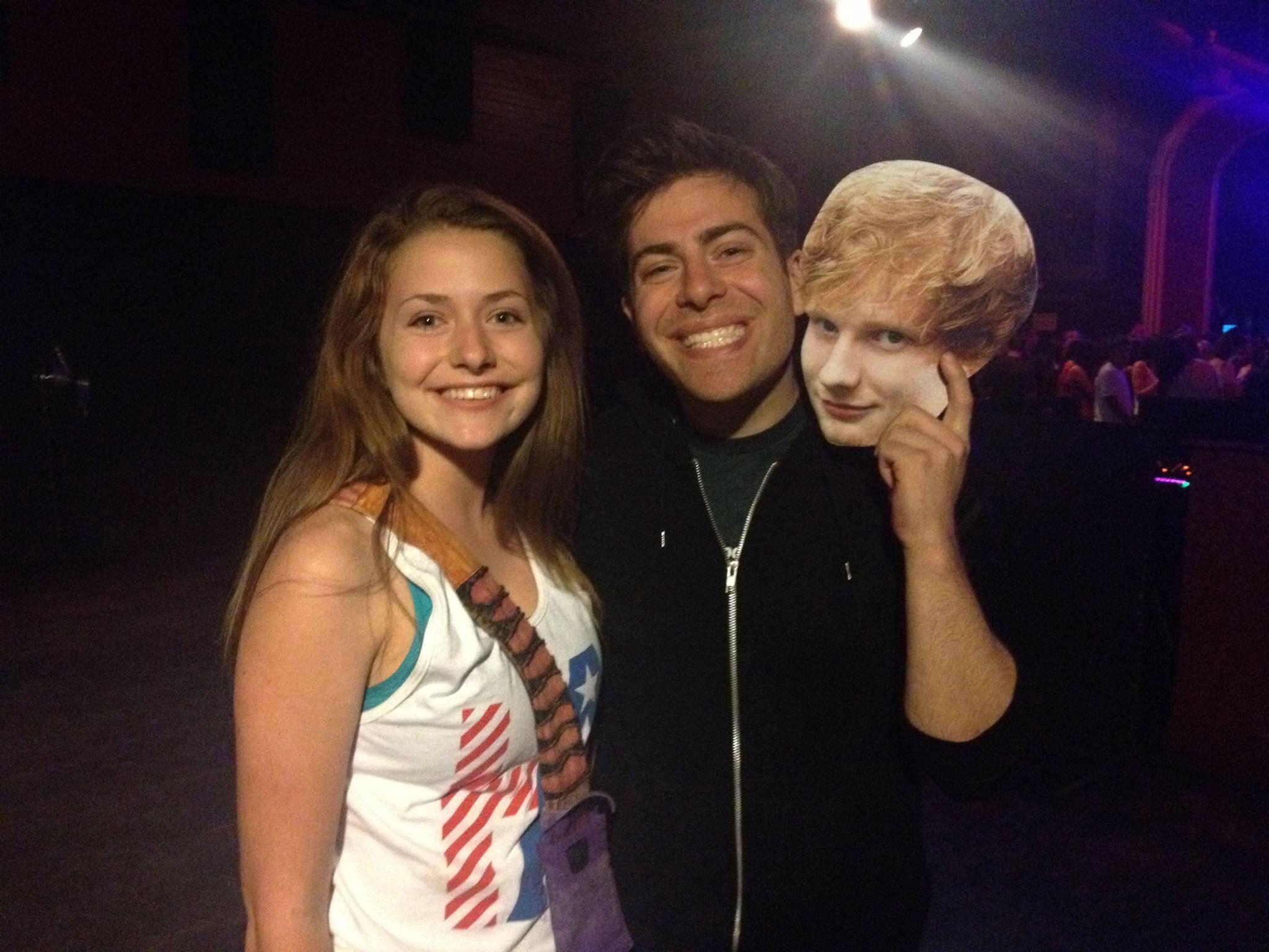 Fan With Hoodie Allen And Ed Sheeran Hoodies Concert Meet And