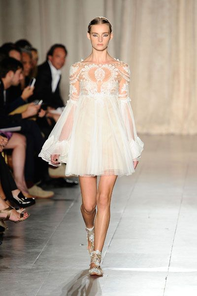 http://chicerman.com everythingsparklywhite:  MarchesaSimilar here  here #weddingsuits