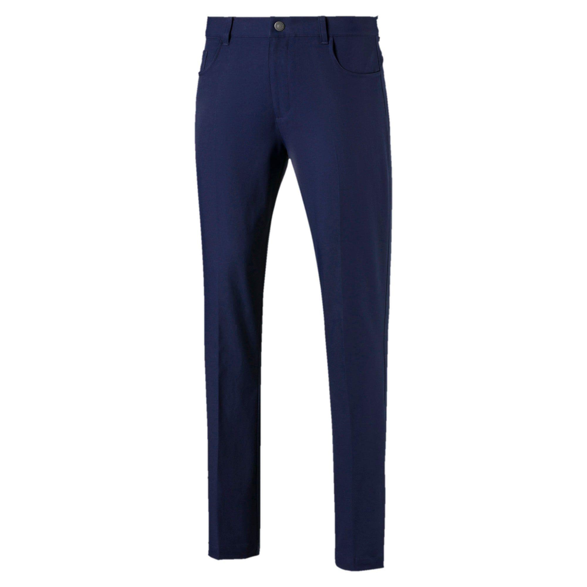 PUMA Jackpot Woven 5 Pocket Men's Golf Pants, Peacoat, size 30/32, Clothing