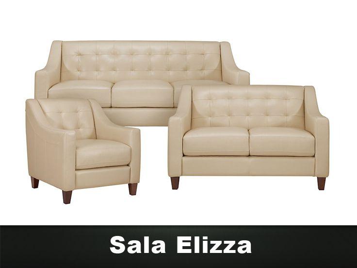Sala Elizza 3 piezas, Muebles para Sala Escandina Muebles Modernos