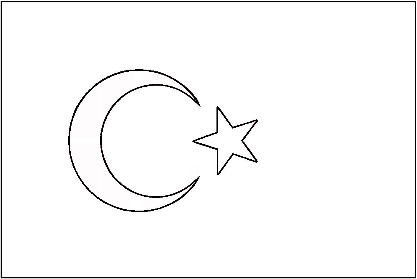 Standart Türk Bayrağı çizimi Filografi Desenleri Filografi