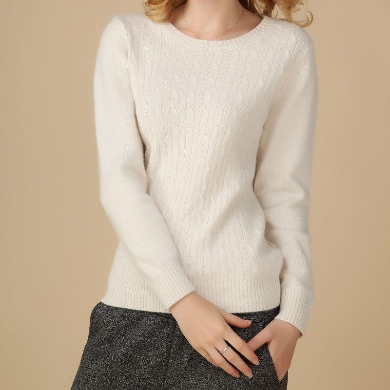 2016 New Winter Pure Cashmere Sweater Womens Sweater wool Crewneck ...