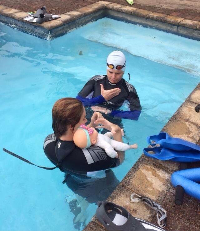 Training In The Pool Swim Instructor Swimming Pool