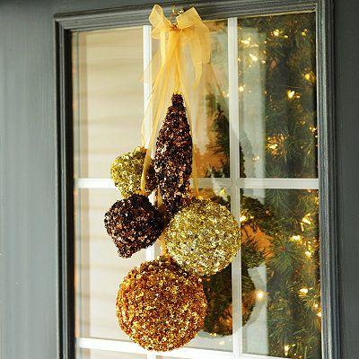Metallic Glitzy Ornament Swag, 24 in. | It\'s Christmas! | Pinterest ...