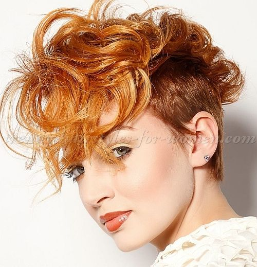 Many Amazing Undercut Hairstyles For Women, Undercut Faux Hawk. Love This!  Real Handy Scrolling Through The Photos