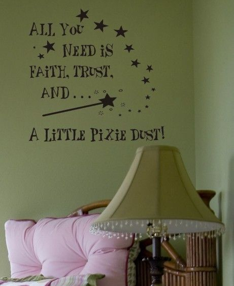 Faith Trust Pixie Dust  Vinyl Wall Lettering Words by itwaddle, $12.95