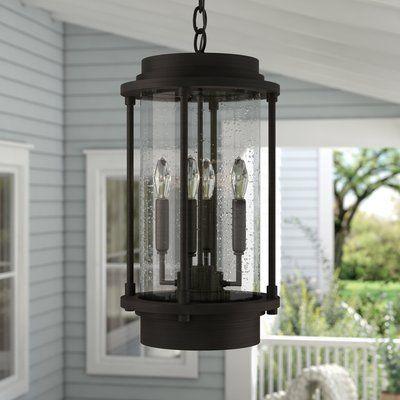 Laurel Foundry Modern Farmhouse Bergland 4-Light Outdoor Hanging Lantern | Wayfair