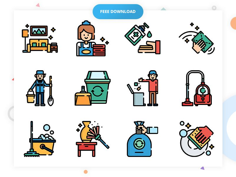 50 Free Cleaning Icon Set Vector Psd Eps Svg Png Cleaning Icons Icon Set Icon Set Vector