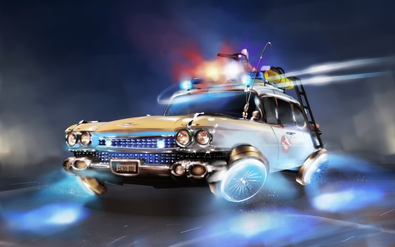 Desktop Wallpaper Ghostbusters Flying Car Fantasy Art Hd Image Picture Background 475e46 Ghostbusters Car Ghostbusters Flying Car