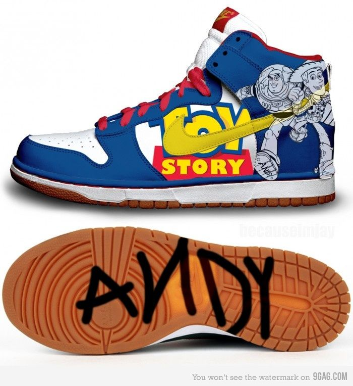 promo code d3f0c 5967b Toy Story Dunks - Sweeeet I wannt them  Andy marks on the bottom is an  awesome touch