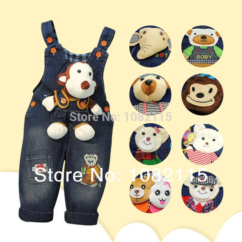Spring 2015 kids overall jeans clothes newborn baby bebe denim overalls jumpsuits for toddler/infant boys girls bib pants