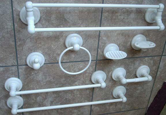 towel bar bath hardware white porcelain