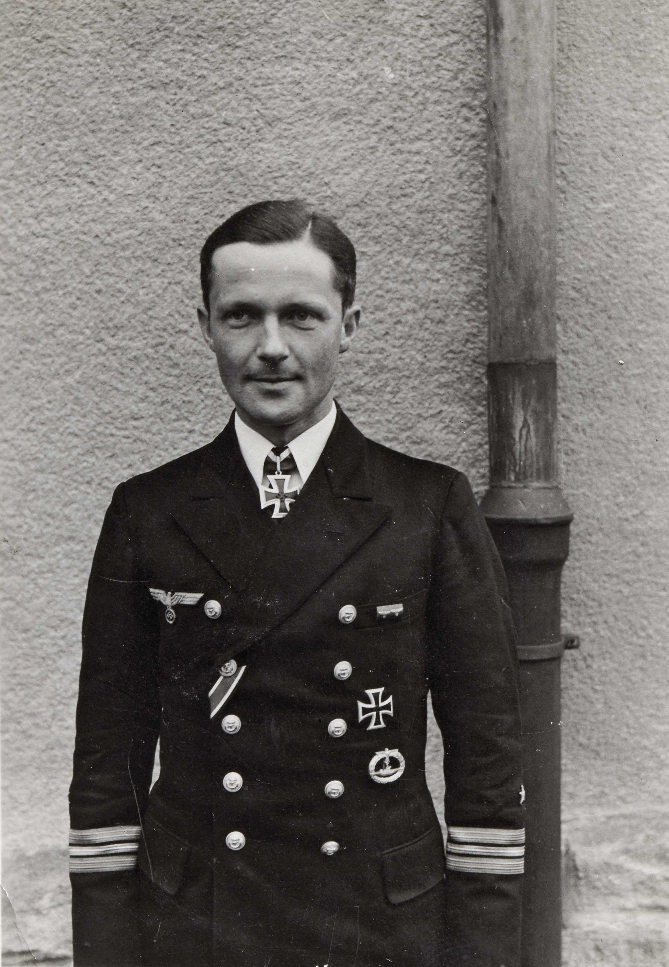 portrait of the german submarine officer lieutenant commander