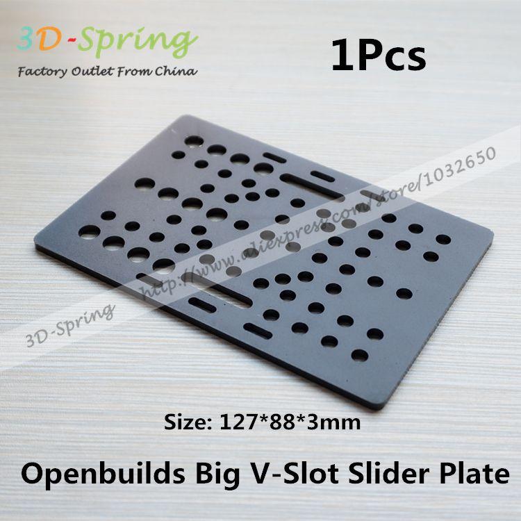 $16.58 (Buy here: https://alitems.com/g/1e8d114494ebda23ff8b16525dc3e8/?i=5&ulp=https%3A%2F%2Fwww.aliexpress.com%2Fitem%2F1Pcs-Openbuilds-Slider-Plate-Big-127-88-3mm-Aluminum-Alloy-CNC-Special-Slider-Plate-For-3D%2F32615761872.html ) 1Pcs Openbuilds Slider Gantry Plate Big 127*88*3mm Aluminum Alloy CNC Special Slider Plate For 3D Printer for just $16.58