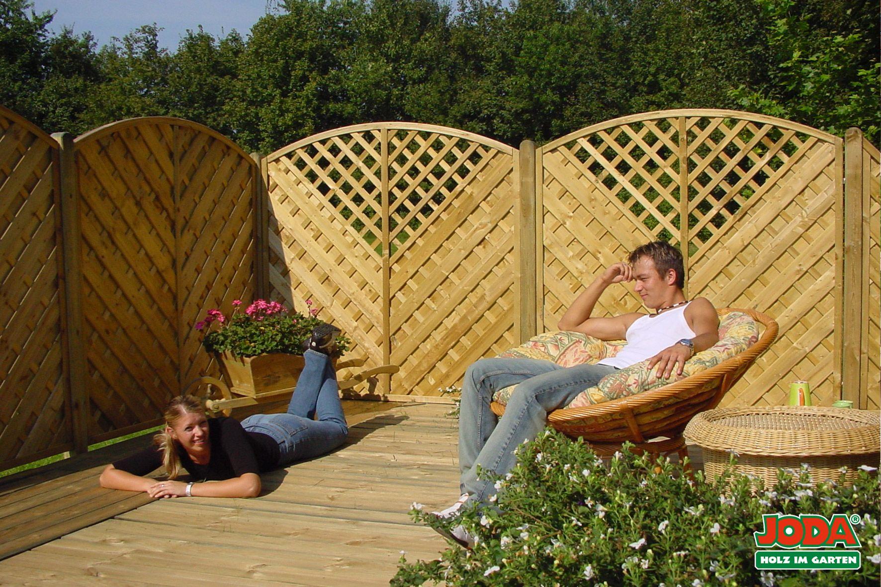 Sichtschutz Zaun Sontegro Naturliches Material Plus Harmonisch