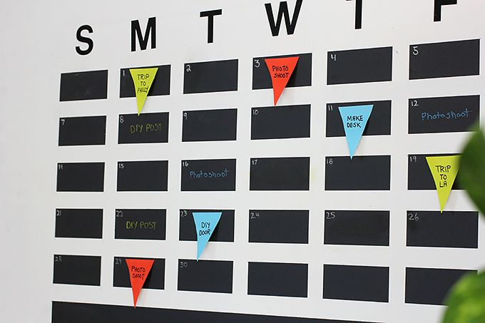 Chalkboard Tape Wall Calendar - Must have for our family calendar
