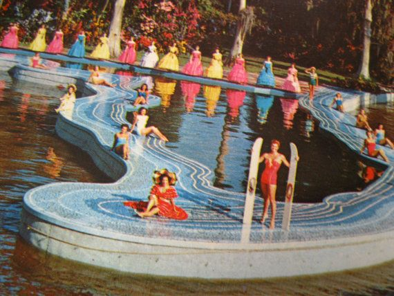 Vintage Cypress Gardens Florida postcard - Esther Williams swimming ...