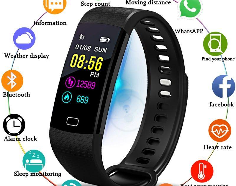 3a0cba2756cf Hot Offer BANGWEI Smart Watch Men Wristwatch Sport Watch Fitness tracker  Pedometer Heart Rate Blood Pressure