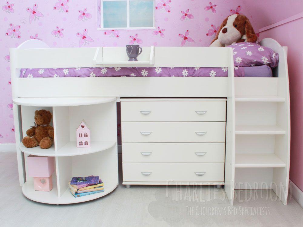 stompa rondo cabin 5 girls midsleeper bed stompa midsleeper beds kids beds cheap