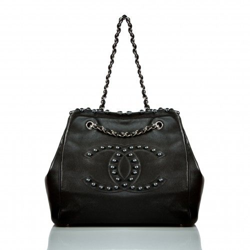Chanel Black Lambskin Pearl Obsession Tote Bag, Limited Edition | Portero Luxury
