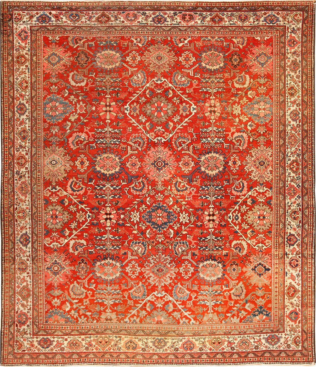 Antique Red Sultanabad Persian Rug 49337 Persian Rug Red Persian Rug Rugs