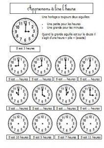 Coloriage Magique Heure Ce1.L Horloge A Cadran Cp Blog Gs Cp Ce1 Ce2 De Monsieur Mathieu Jeux
