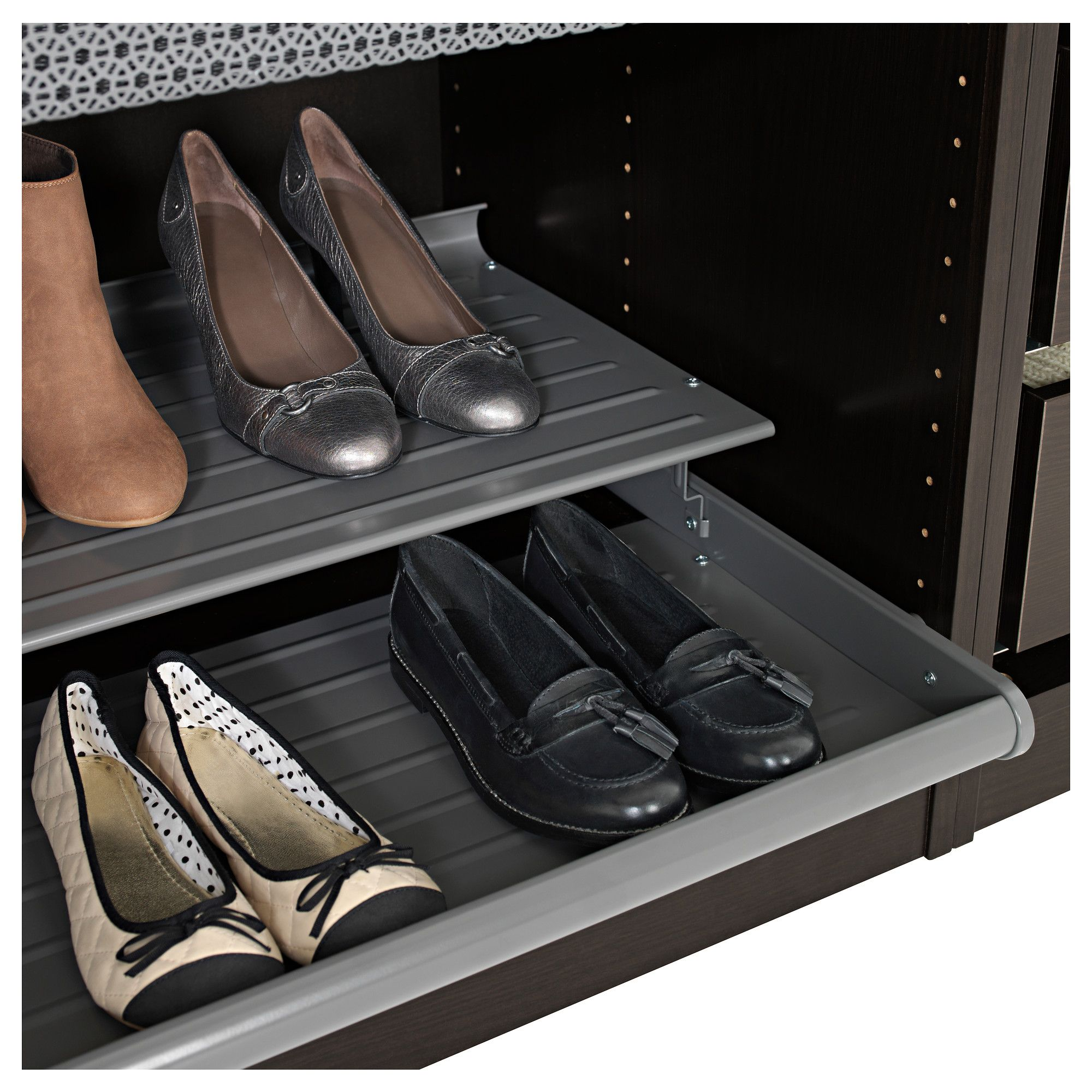 Ikea Komplement Pull Out Shoe Shelf Dark Gray