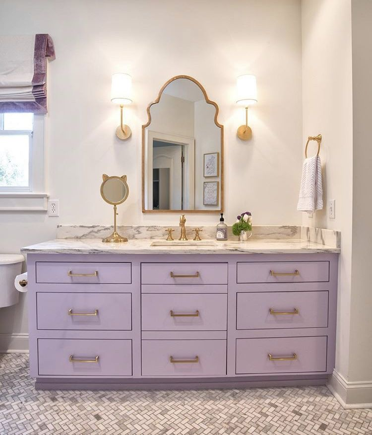 Pin On Willa S Bath, Purple Bathroom Vanity