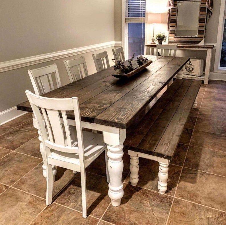 Farmhouse Dining Table With Chunky Legs