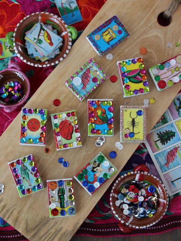 DIY Loteria Match Boxes | Lola's Cocina