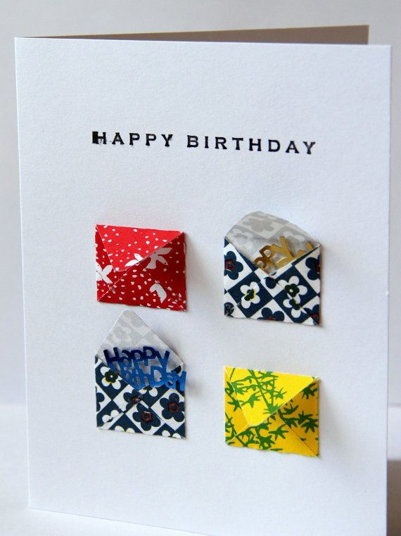 Happy Birthday Card With Tiny Envelopes With Images Birthday