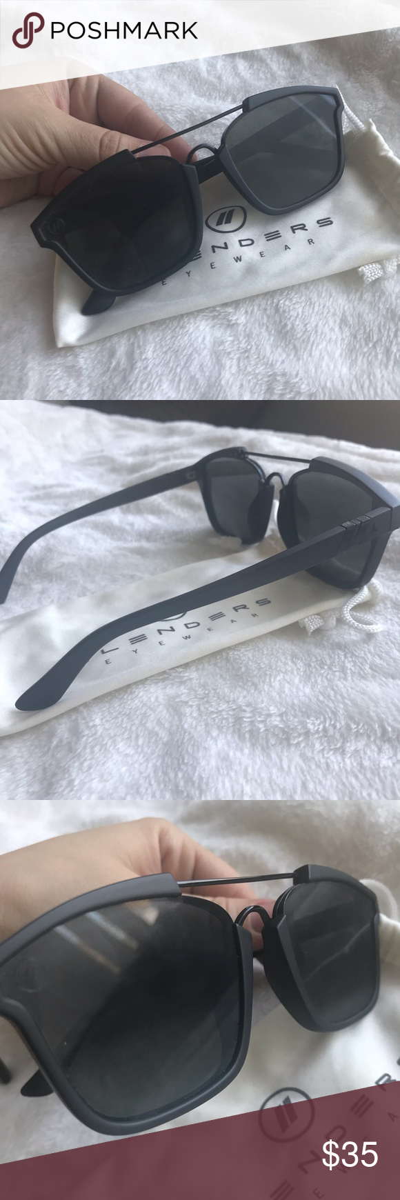 0a714f72b9eb Blenders eyewear Westbrook Murdered out matte black frames Worn once and in  perfect condition! They are just sitting on my dresser needing a new home!