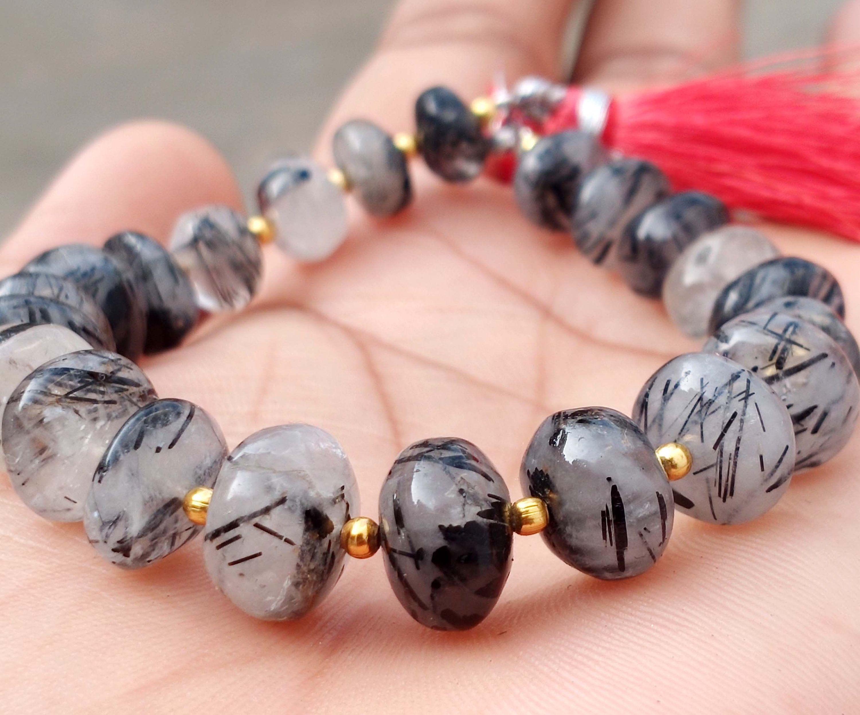 Reserve For Someone Rare Black Rutilated Quartz 6 Gemstone Beads Jewelry Jewelry Making Beads Gemstone Beads