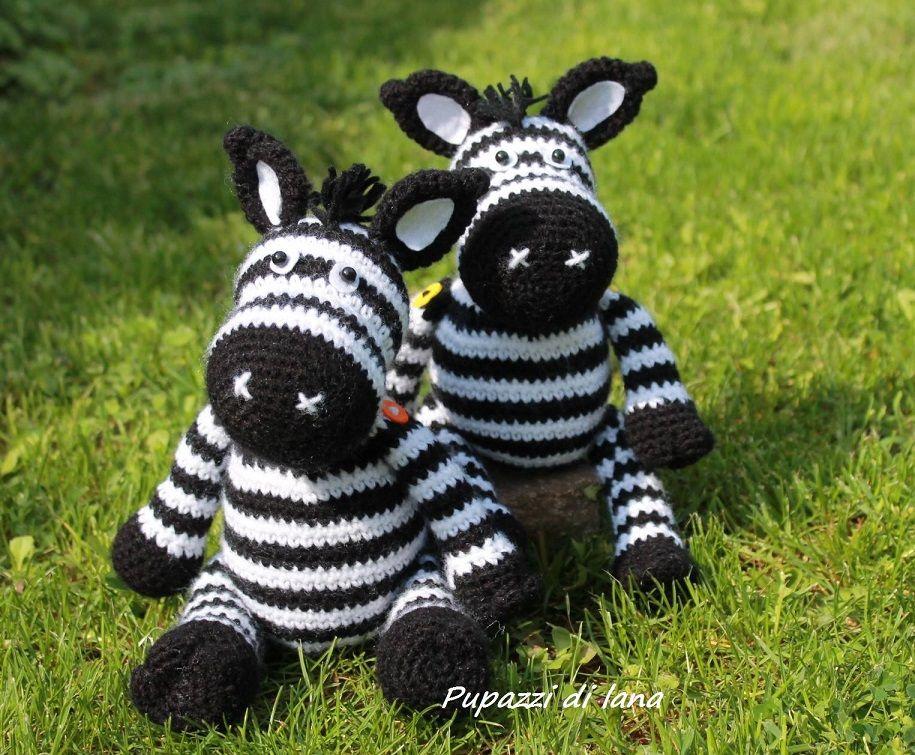 Zebra amigurumi – Schema gratuito. (Cucito Creativo) | Patrones ...