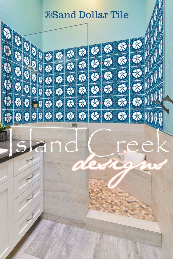 Coastal Tile Pattern Panels On Crystal Clear Material That Is Easy ...