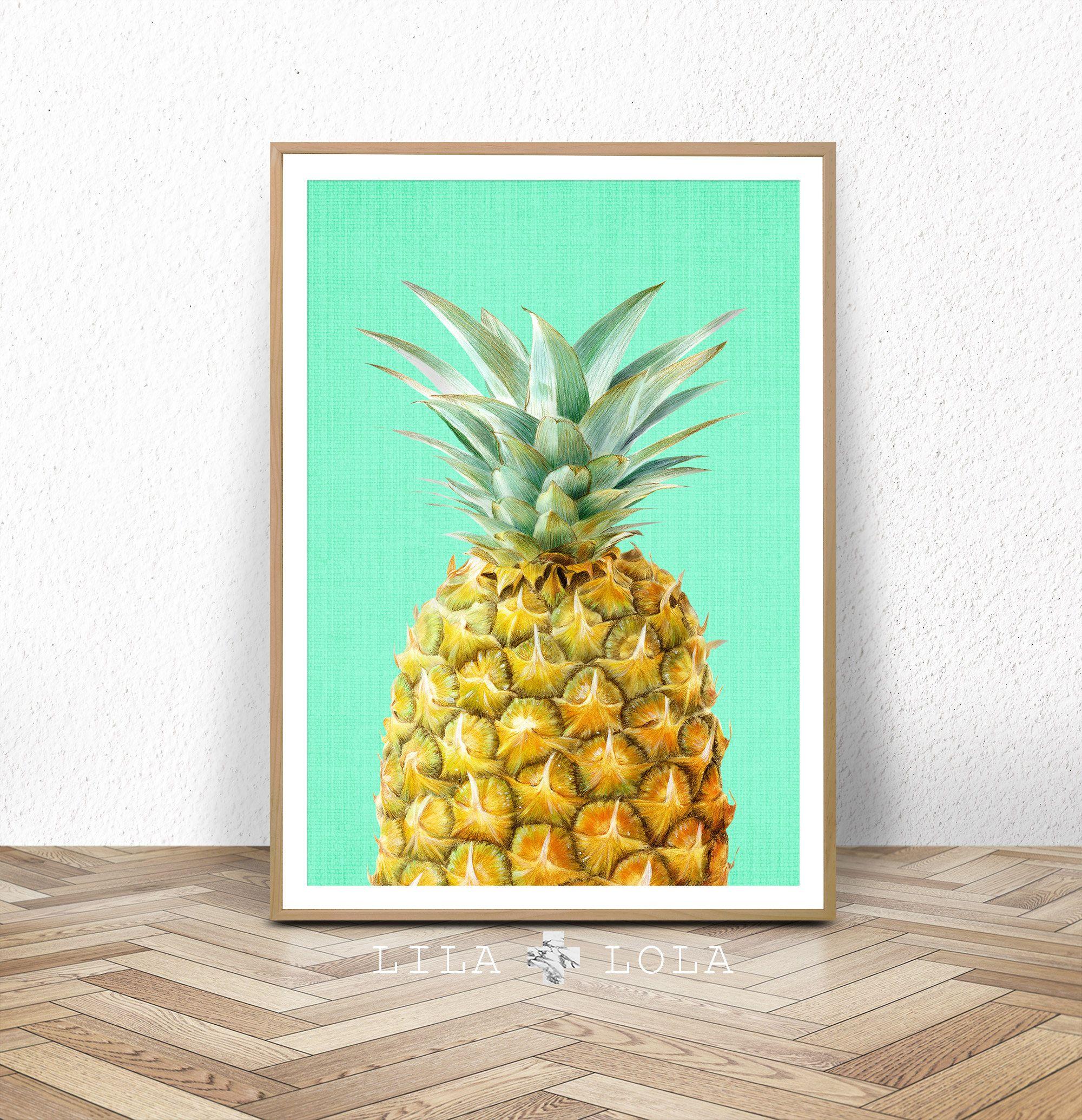Kitchen Print Scandinavian Print Best Selling Items Tropical Art Pineapple Wall Art Pineapple Print Fruit Print Prints Printable Art