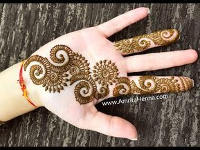 Quick mehndi henna design to try best easy mehendi online youtube also rh pinterest