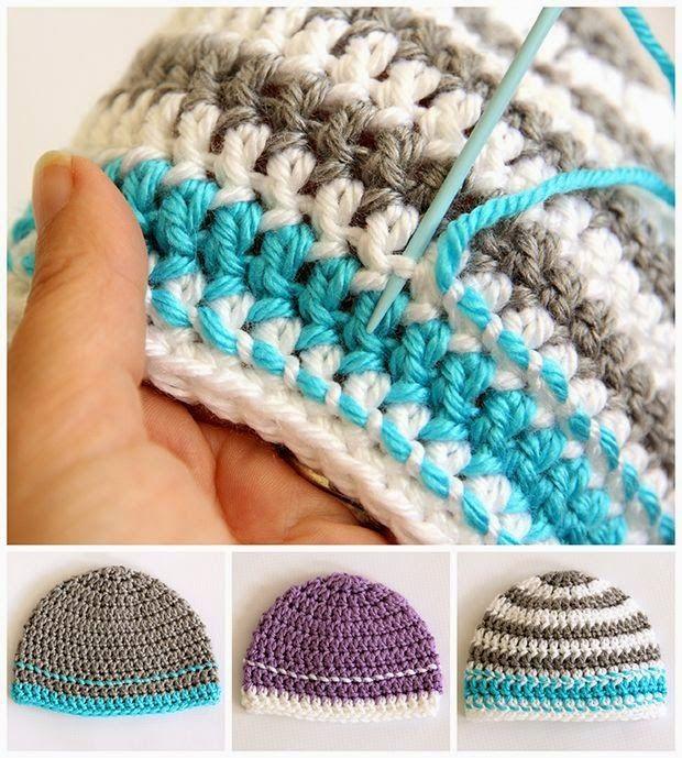 Crochet Caps for a Cause Pattern | Häkeln, Mütze und Häckeln