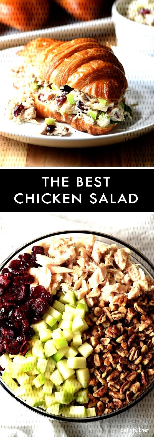 Salads : This is the BEST chicken salad. It could not be easier or more delicious. With chicken, cr